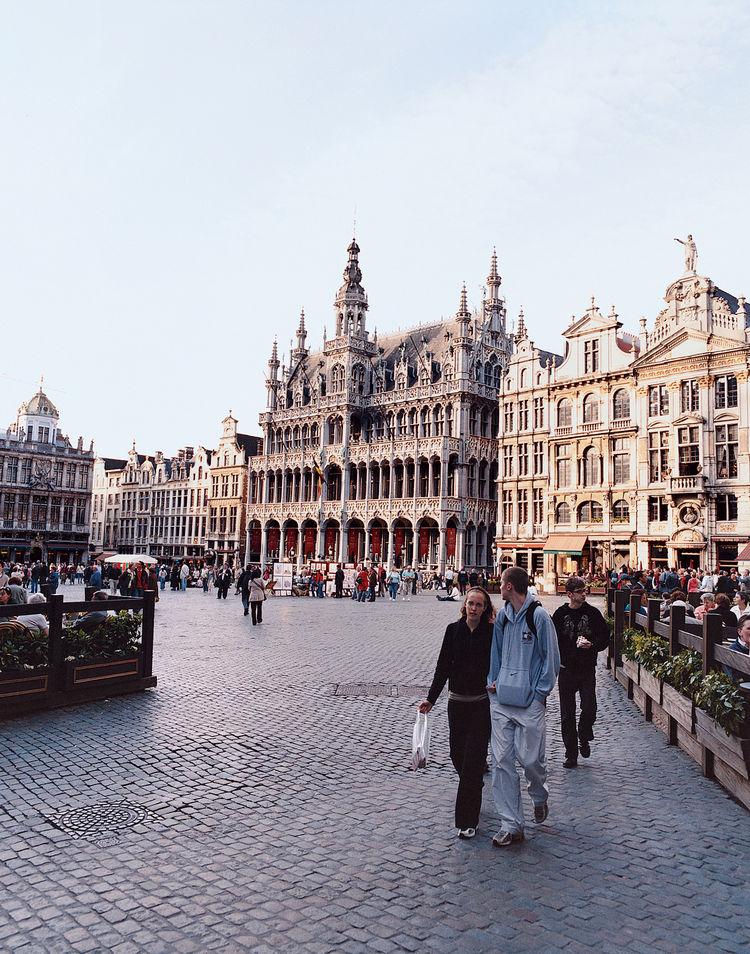 The Grand Place—Brussels's major tourist destination—was burned down by the French in 1695, but was rebuilt within five years.