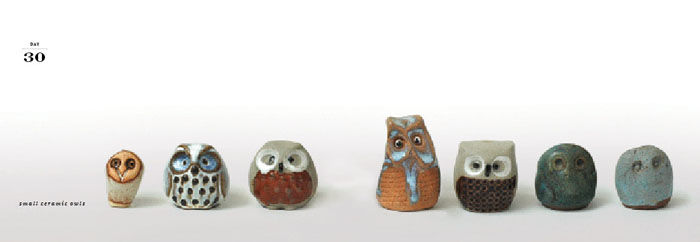 """The owls are actually my mothers collection that were handed down to me,"" Congdon explains. ""My mom is also a collector—I definitely got the bug from her. A lot of my collections are things people gave me. So a lot of it has sentimental value.""<br /><br"