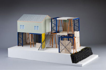 <em>Manufactured Sites</em>, 2008, by Estudio Teddy Cruz. Part of <em>Imagining Home: Selections from the Heinz Architectural Center</em>, at the Carnegie Art Museum.
