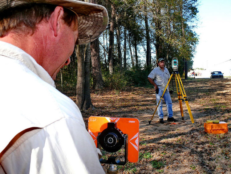 "The studio is currently being built on a small parcel of land in the Woodlands, Texas, which is just outside of Houston. Here, surveyors assess the building site. ""I  needed a land use plan, so I called the Dean at the University of Houston, College of Ar"