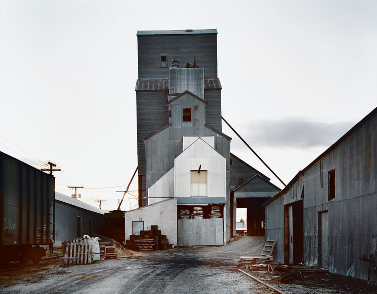Cho spends much of the year in Bozeman teaching at Montana State. The vernacular architecture, like the grain-storage facility shown here, provides much inspiration for his work.