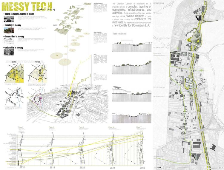 "Student Category First Place Award of $2,000: MessyTECH by Randall Winston, Jennifer Jones, and Renee Pean / University of Virginia School of Architecture. <br /><br /> <br /><br /> Statement from Messytech team:  ""MessyTech recognizes the full life cycle"