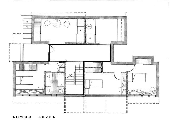 The first spine and module house Peter Cohen designed was this one in 1961 meant for a family in Rochester, New York.