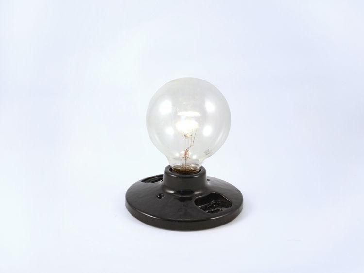 The Commune Black Porcelain Light Socket, $45.