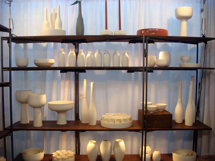 "Portland, Oregon-based ceramist <a href=""http://www.lilithrockett.com"">Lilith Rocket</a> created this line of white porcelain vessels."