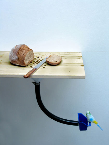 A bird feeder from Barcelona-based Curro Claret.