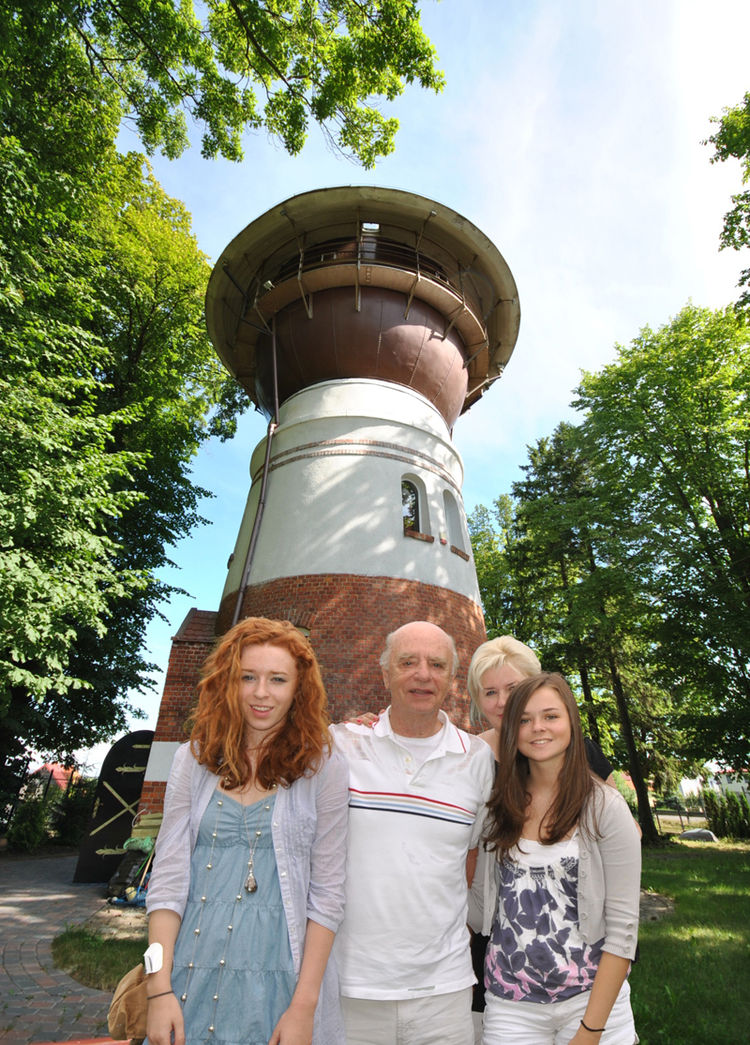 """Stan and Ela Golanka, who spotted the water tower while staying at a (less desirable) hunting lodge on vacation, yearned for a little place of their own to fix up. """"After we saw it, we did a little research, and eventually got a hold of it in March 2001."""