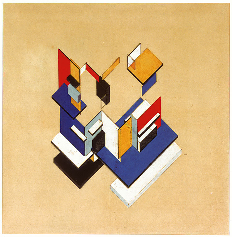 """Theo van Doesburg, """"Counterconstruction,"""" 1923, gouache on collotype, 57 x 57 cm. Collection of the Museum of Modern Art, New York, Edgar J. Kaufmann Jr. Fund 1947<br /><br /><p><em><strong>Don't miss a word of Dwell! Download our </strong></em><a href=""""h"""