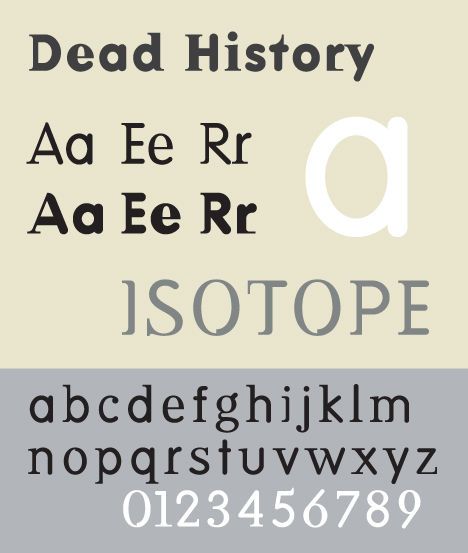 """""""Dead History"""" designed by P. Scott Makela in 1990 is one of the 23 typefaces recently acquired by MoMA. Photo: Wikimedia Commons."""