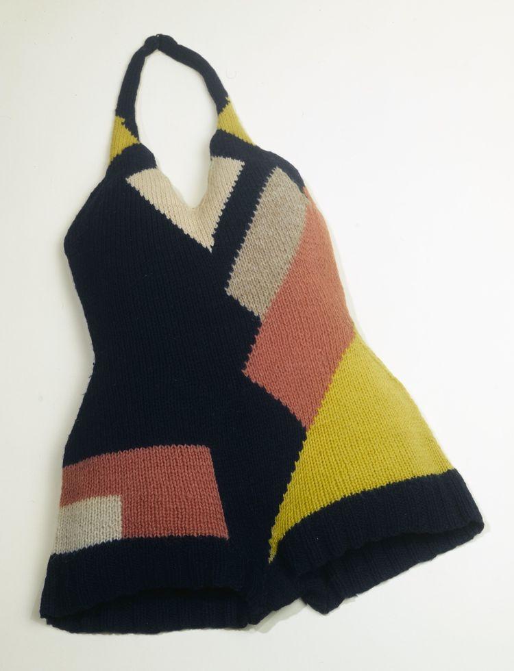 Bathing suit, designed by Sonia Delaunay. France, ca. 1928. Knitted wool. Musée de la Mode de la Ville de Paris, Galliera. © L & M SERVICES B.V. The Hague 20100623.
