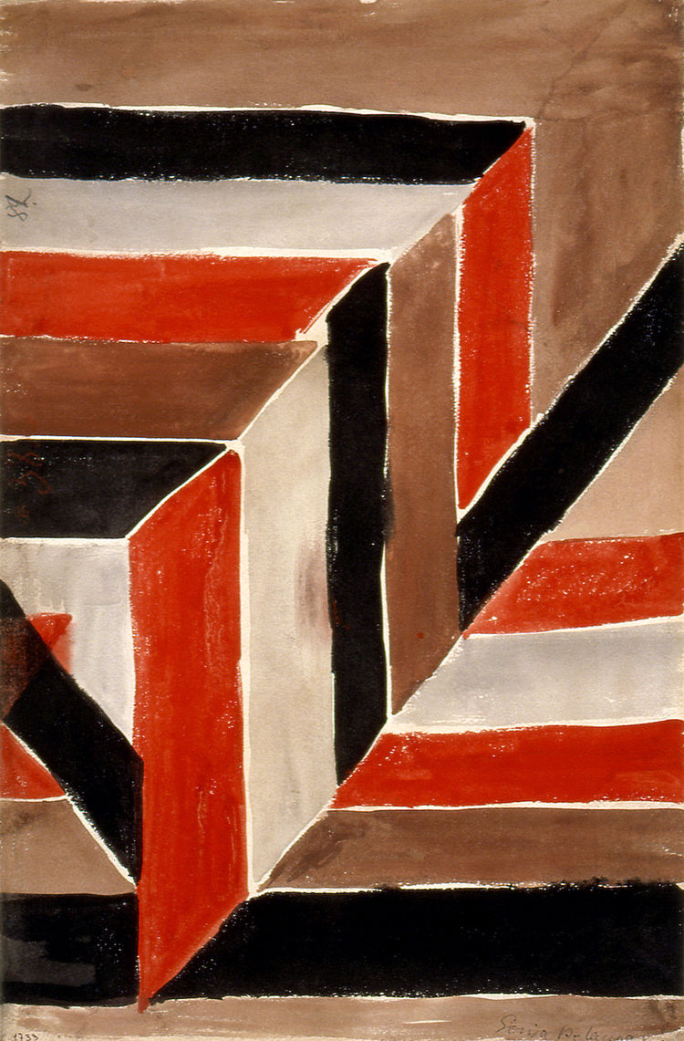 Abstract Diagonal Composition no. 1733, designed by Sonia Delaunay, France, 1925. Gouache on paper. Private collection. © L & M SERVICES B.V. The Hague 20100623. Photo: © private collection.<br /><br /><p><em><strong>Don't miss a word of Dwell! Download o