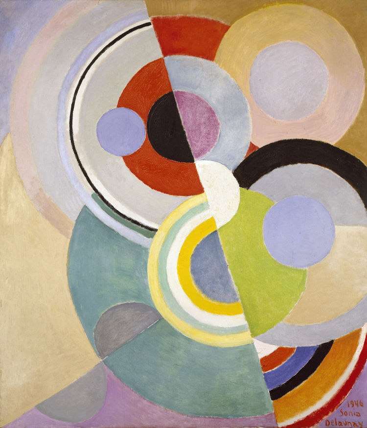 Rythme Coloré (Colored Rhythm), painting by Sonia Delaunay, France, 1946. Oil on canvas. Private collection. © L & M SERVICES B.V. The Hague 20100623. Photo: © private collection.