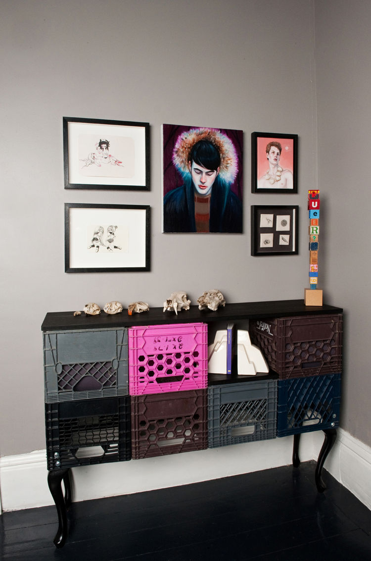 Moore and MADE co-owner Julie Nicholson find inspiration for their furniture designs from everyday items, like milk crates.