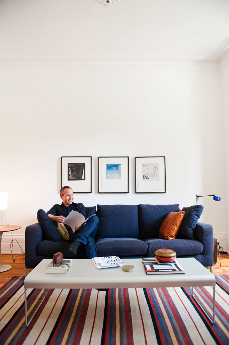 Industrial designer Andrew Jones is known for his furniture and lighting designs.