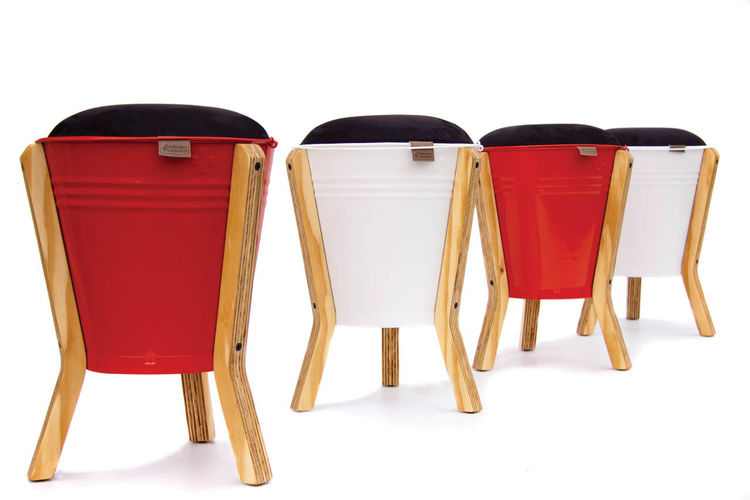 "Bucket Stool <br /><br />Designed by: <a href=""http://www.pedersenlennard.co.za/"">Pedersen + Lennard</a><br /><br />In South Africa, objects tend to be overly designy without enough craft, or too crafty without enough design, says Luke Pedersen. His team"