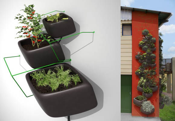 "Wallflower Vertical Garden<br /><br />Designed by: <a href=""http://www.haldanemartin.co.za/"">Haldane Martin</a><br /><br />Soaring food prices and dense urban living make Cape Town the perfect place to start a vertical edible garden. Haldane Martin brings"