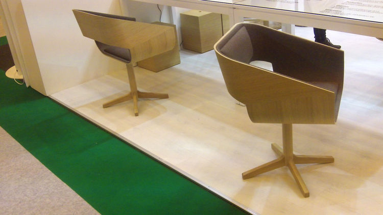 A handsome duo of chairs also by Channels.