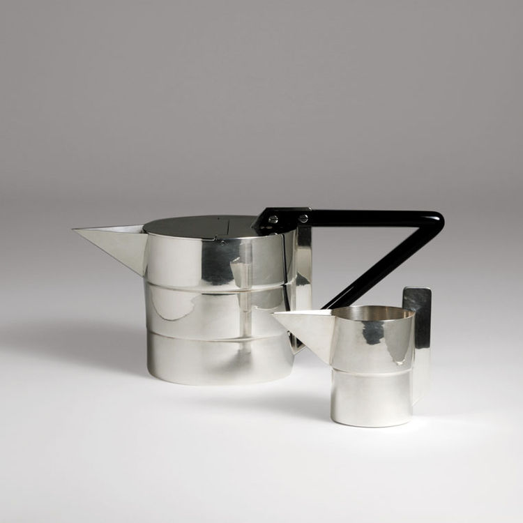 Teapot and creamer by Gae Aulenti