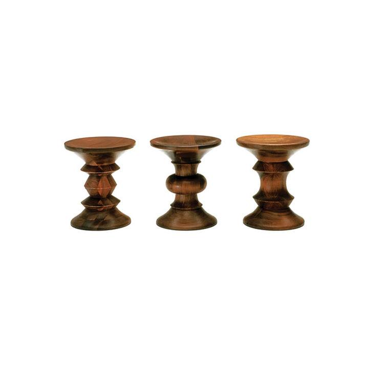 Walnut stools by Ray Eames