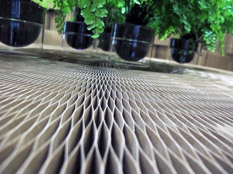 Here's a view of the surface of Molo's fold-up table.