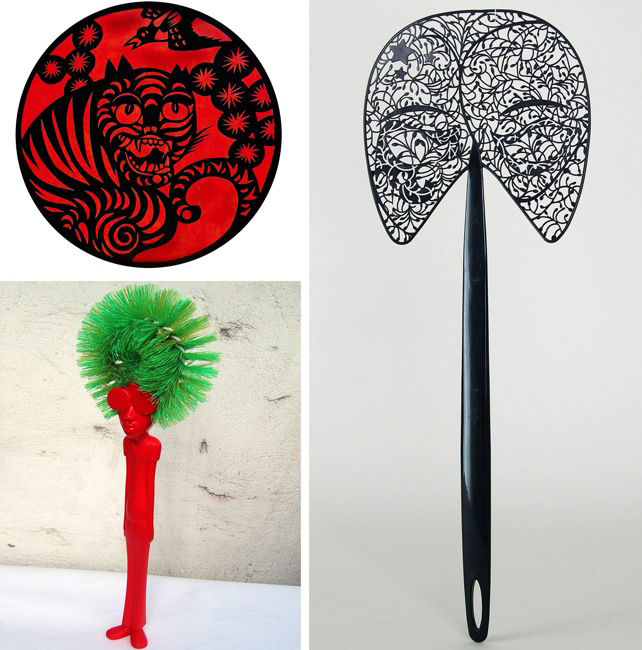 'Afro Brush' by Gumption Design (Tong Parinya Pipatporn), Thailand; 'Venice Fly Swatter' by Monica Tsang, China