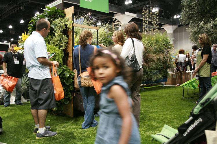 """Fun for the whole family in Dwell Outdoor! <a href=""""http://www.woollypockets.com/"""">Woolly Pockets</a> and an air plant mobile were just a few of the eye-catching attractions on display."""