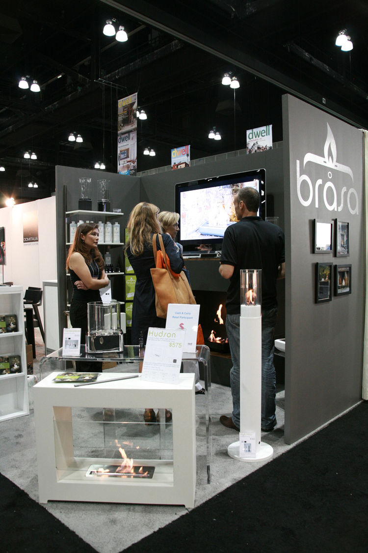 "Ventless fires have gained more and more popularity and <a href=""http://www.brasafires.com/dev/"">Brasa</a> showed off its portable fireplaces on the show floor."