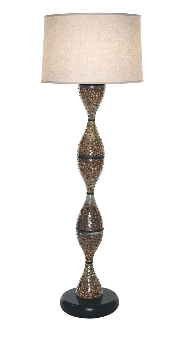 The Dotted Bottle floor lamp was Anton's first of this type, conceived with the help of David Serrano from the Los Angeles shop Downtown.<br /><br />Photo by Carol Reach.