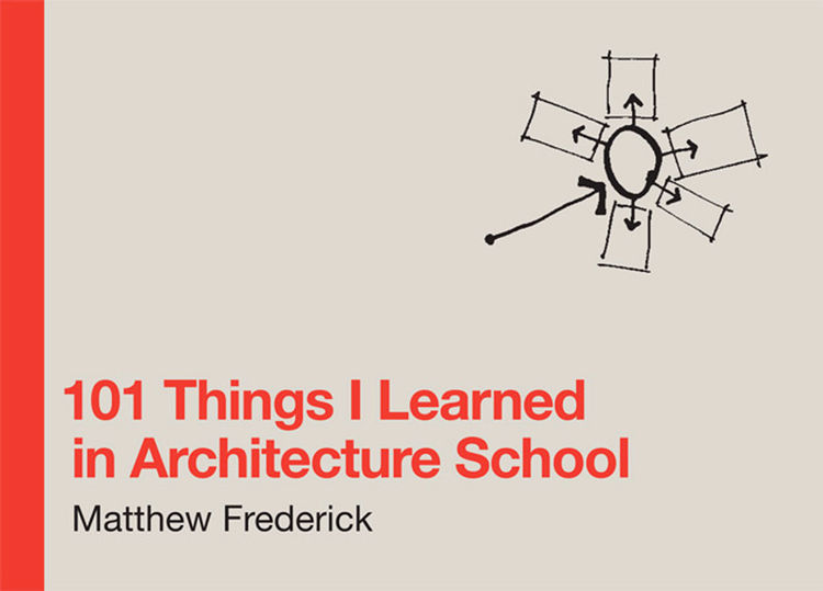 "Like any new endeavor you dive head first into, learning about architecture was as much about learning the language. Early on I came across the book <a href=""http://www.101thingsilearned.com"">101 Things I Learned in Architecture School</a> and it quickly"