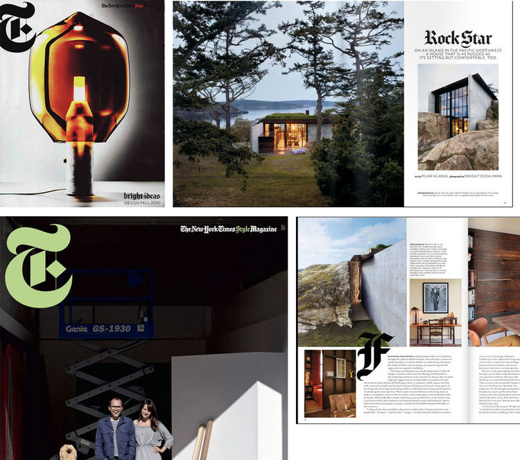 "It's a good sign when you open the Sunday New York Times and see the architect you selected has a project featured in the pages of either the <a href=""http://www.nytimes.com/pages/magazine/index.html"">NY Times weekend magazine</a> or <a href=""http://www.n"