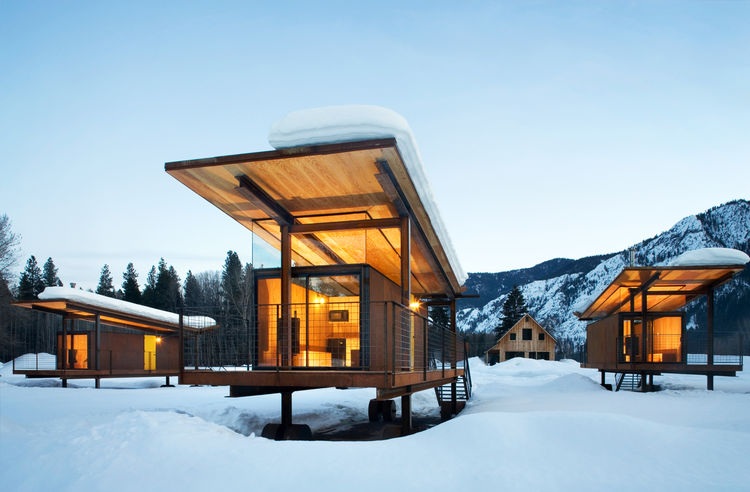 A Rolling Hut. Photo by Tim Bies, Olson Kundig Architects.