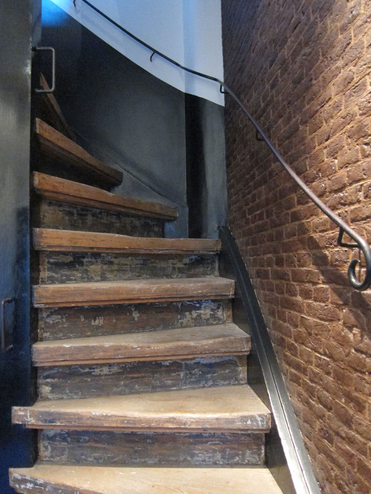 Throughout the hotel are original historic details, including this steep twisting staircase that led from the main floor of the hotel to the second floor (yes, there is also an elevator!).