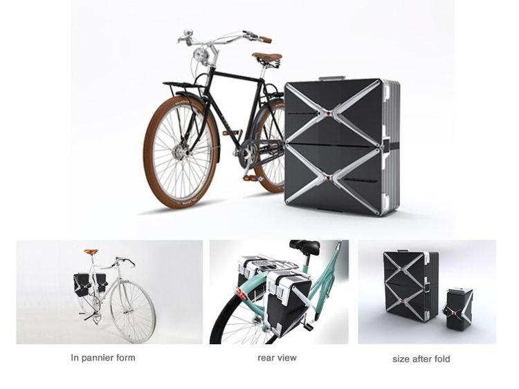 This Travel Pack is designed to carry a bicycle on an airplane—it transforms from a single suitcase (carrying the disassembled bike) into two separate panniers, which can compress and clip onto the back of the reassembled bicycle once you get to your dest