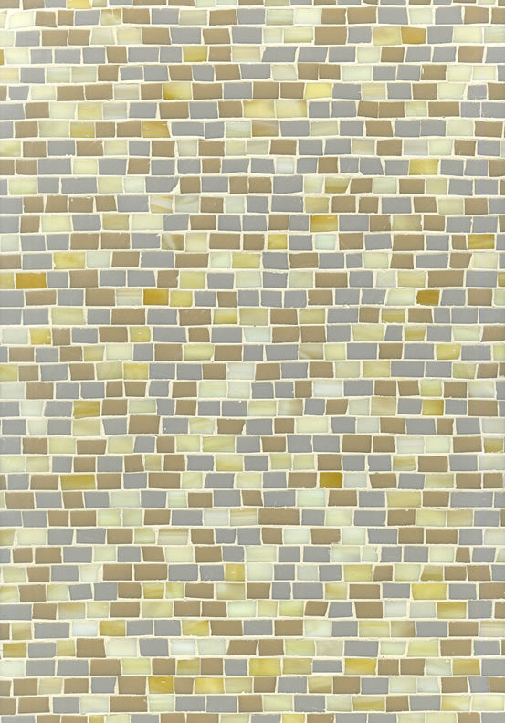 A neutral array of the mosaic tile by Erin Adams.