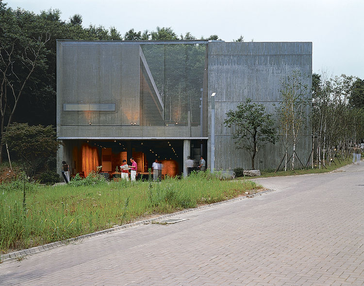 The exterior of the Camerata Music Space and Gallery.