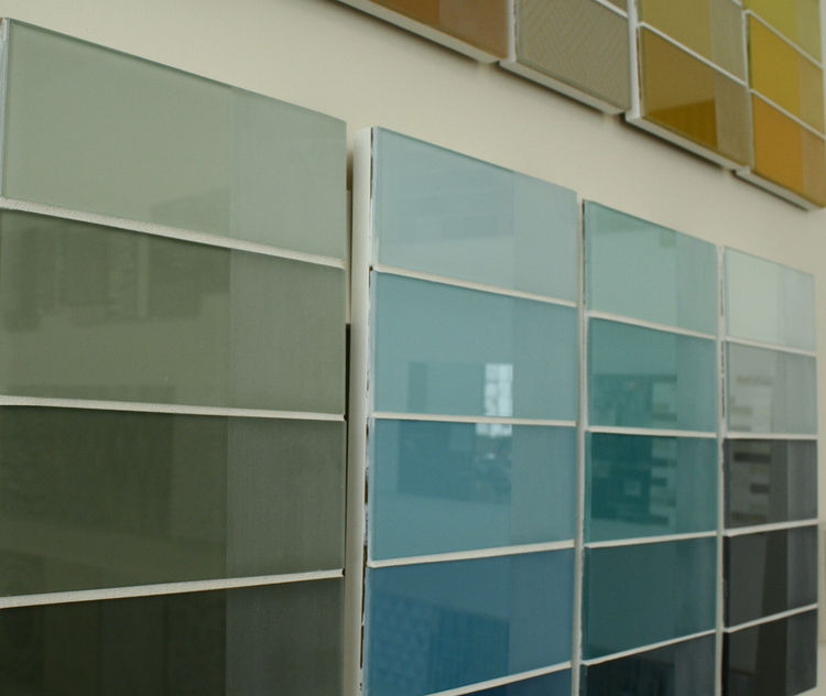 "Lee Nicholson raved about <a href=""http://www.gridsurfaces.com/ProductLine.aspx"">GRID's</a> abilities with large format glass tile, and a little hunting around on their website makes you think that with their architectural surfaces and tile anything is po"
