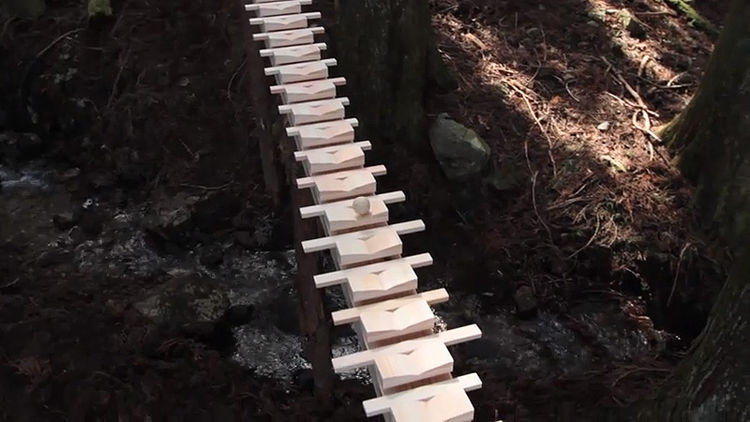 "If you like installations and classical music, have a look at <a href=""http://www.youtube.com/watch?v=C_CDLBTJD4M"">Bach's Cantata 147, Played on a Giant Wooden Xylophone in a Forest</a>."