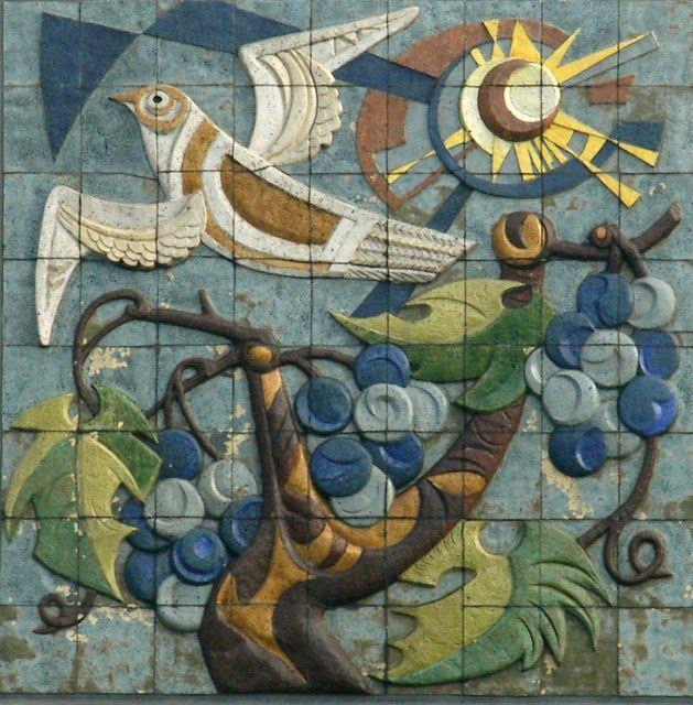 Carla Daalderop-Bruggeman, I Am the True Vine, 1959, Prince Willem Alexander School, Tiel.