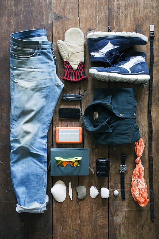 Burning House creator Foster Huntington's photo of what he'd save from his burning house. His list includes his grandfather's explorer scout shirt, three shells and one stone from the Maine coast, and his external hard drive, among others.