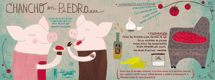 "An illustration from <a href=""http://www.theydrawandcook.com/"">They Draw & Cook: Recipes from Artists Around the World</a>."