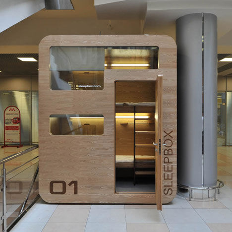 The Sleepbox is an oasis of clam for weary travelers.