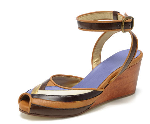 """These wedges by  <a href=""""http://www.formandfauna.com"""">Form & Fauna</a> are made right here in the U.S.A. from eco-minded materials."""