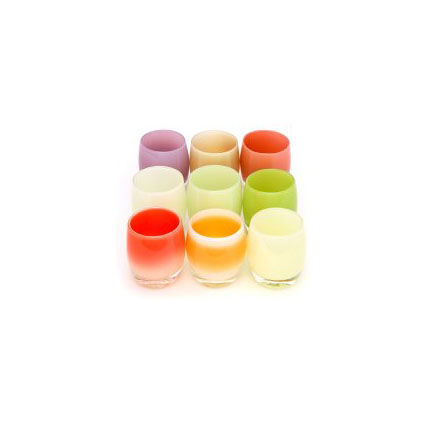 "Votives by <a href=""http://www.glassybaby.com/shop/glassybaby-of-the-month.aspx"">glassybaby</a>."