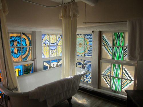 Another set of windows in the Mabel Luhan house in New Mexico.