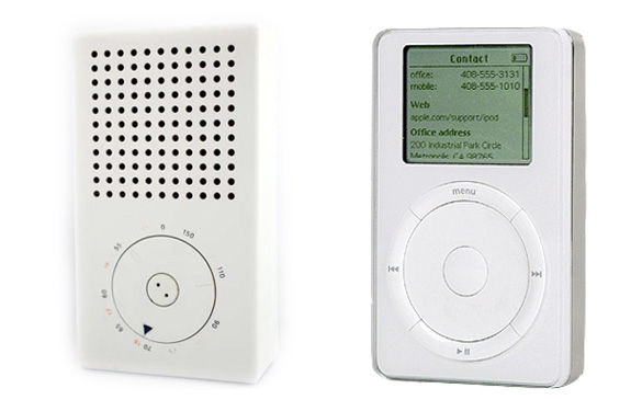 The inspiration for iPods, a radio designed by Dieter Rams.