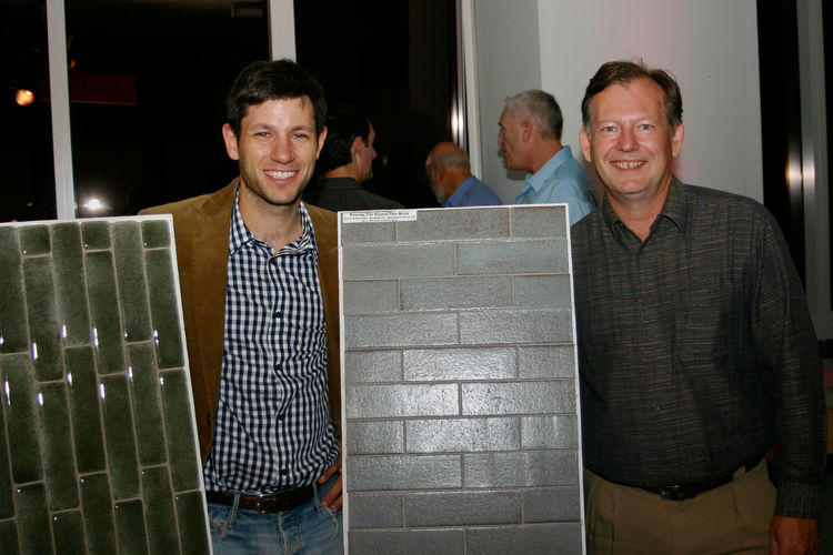 "Among the materials exhibitors, <a href=""http://www.fireclaytile.com/"">Fireclay Tile</a> had one of the most impressive backstories. Their artisan tile is made from recycled and upcycled materials like glass remnants from window installations, porcelain f"