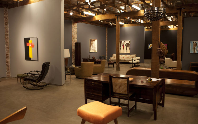 The 6,000-square-foot gallery, with a mixture of Brazilian, European and American modern furniture and artwork by modern and contemporary artists. Photo courtesy Elko Weaver.