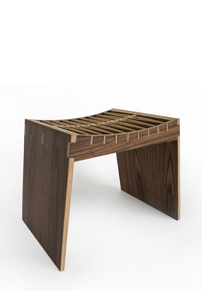 The Flex Stool, designed in 2007 and manufactured by Pirwi.