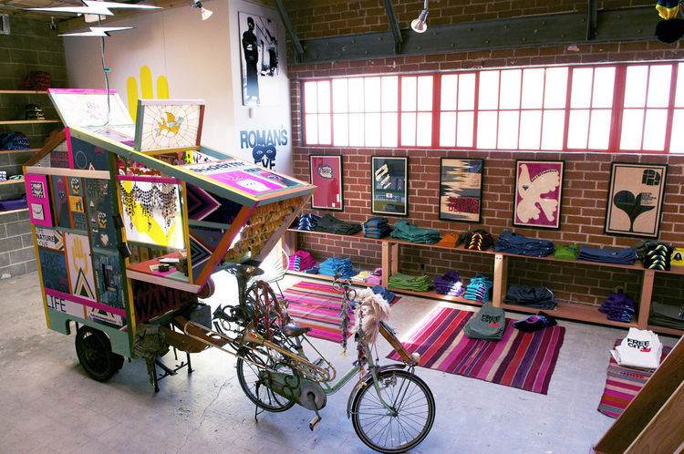 Frausto's 'Camper Bike' holds court in another corner of the shop.