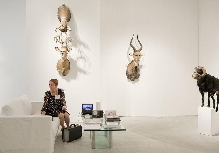 Claire Oliver at Art Miami, 2009.